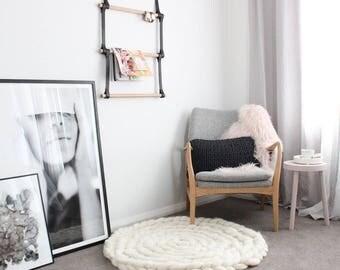 Chunky rug, merino wool, chunky blanket, wool rug, giant knit, merino yarn, crochet rug, chunky carpet, knit rug, arm knit, giant throw