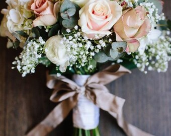 Spring Rose and Hydrangea Bridal Bouquet