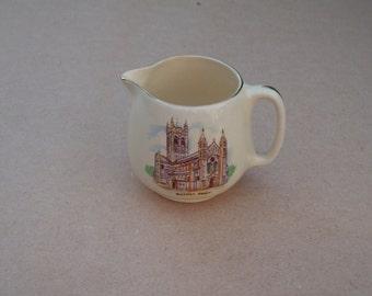 Crown Devon Fielding's Jug - Buckfast Abbey - Vintage Crown Devon
