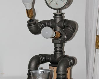 IRON MIKE - Steampunk lamp