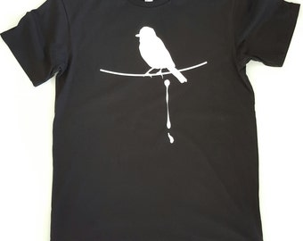 Australian made t-shirt 100% organic cotton. Hand screen printed using eco water based inks. Original art designed by me.
