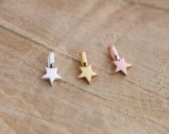 Sterling Silver 925 Star Pendant | Rose Gold Star Charm | Sky Star Charm Pendant | 18K Rose Gold Plated | Gold Star Pendant