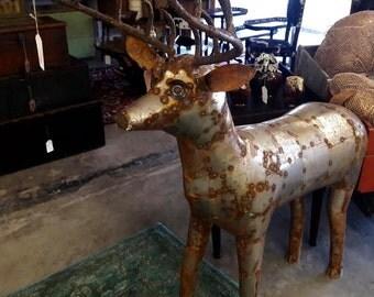 Beautiful Handmade Vintage All Metal Reindeer