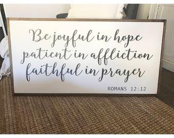 Be joyful in hope..