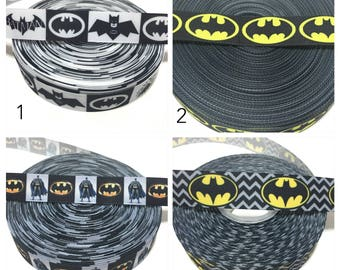 Batman Ribbon, batman grosgrain ribbon, batman logo ribbon
