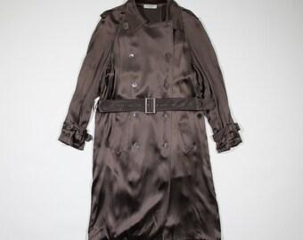 YVES SAINT LAURENT - silk trench coat