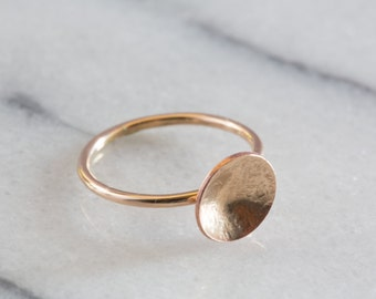 Dome Ring | Circle Ring | Gold Filled Ring | Minimalist Ring | Gold Stacking Rings | Delicate Ring | Gifts for Her | Geometric Ring