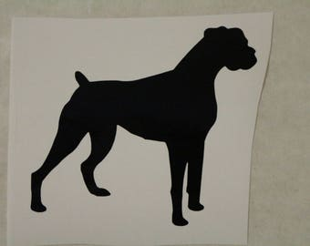 Boxer Dog Decal Any Size Any Colors