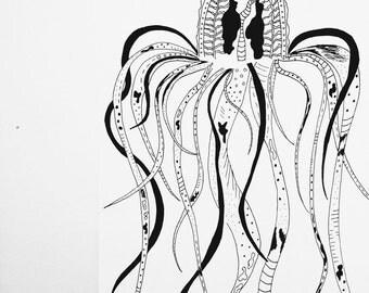 Jelly fish wall art decor