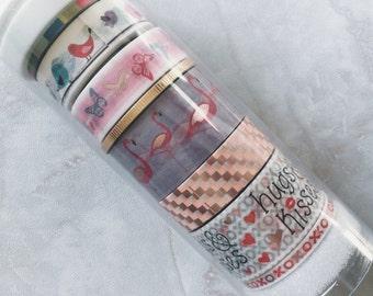 Little B Washi tape. Flamingo . love bird. Hug. Kisses. Decorative tape. Joann