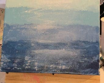 Ombre Blue Painting