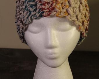 Rainbow Crocheted Winter Headband