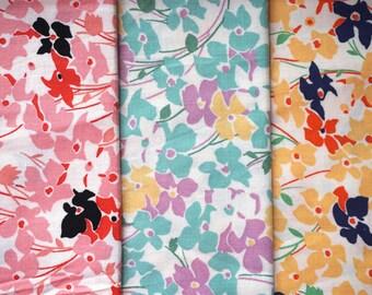 Retro Flowers by RJR Fabrics - Fat Quarter Bundle - 3 pieces