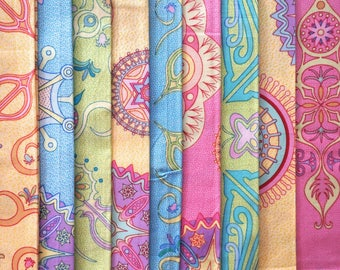 Prism Image by Fun Quilts for Free Spirit Fabrics - Fat Quarter Bundle - 9 pieces