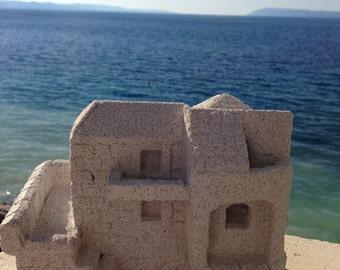 Handmade lightweight stone house