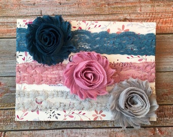 Set of 3 Headbands/Baby Headband/Headband Set/Baby Headband Set/Baby Headbands/Newborn Headband/Infant Headband/Baby Shower Gift/Headband
