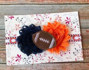 Chicago Bears Baby Headband, Bears Headband, Football Baby Headband, Toddler Headband, Sports Headband, Girls Headband, Football Headband