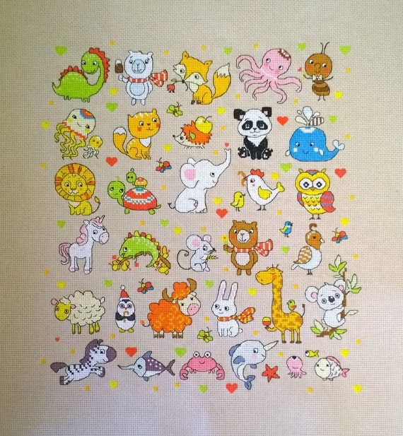 Cross Stitch Pattern PDF Canvas Embroidery Pattern