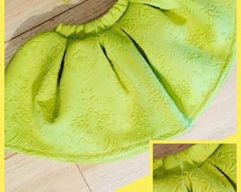 Beautiful lime green skirt and bow set