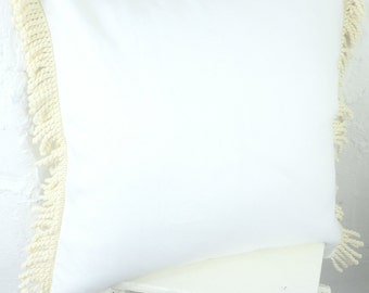 White Irish linen cushion
