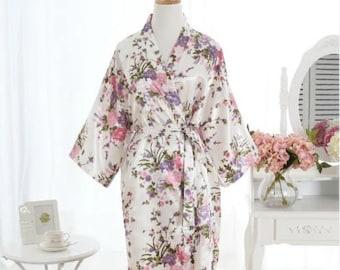 White Bridal satin robe