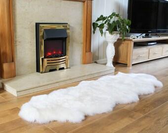 Sheepskin Rug Genuine Natural Double Pelt Large