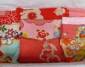 Assorted antique/vintage Kimono fabrics (Lager pieces) 150g - no.16