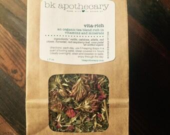 vitamin rich herbal tea//nutrition in a cup//vita rich