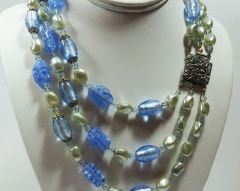 Vintage, 1950s, Glass Beaded Necklace (SA019)