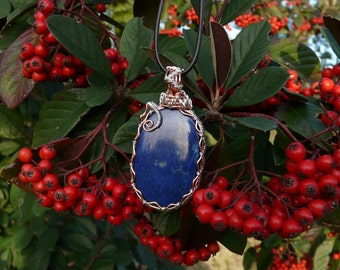 Wire Wrapping Lapis Lazuli pendant