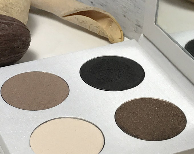 Vegan Eyeshadow-Neutral Eyeshadow-Pressed Eye Shadow-Eyeshadow-Quad 16 Eyeshadow Palette-Organic Neutral Eyeshadow, Vegan Neutral Eyeshadows