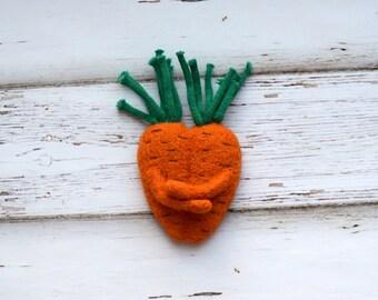 Enamored Carrots Magnet,  Fridge Magnet, Cool Refrigerator Magnets