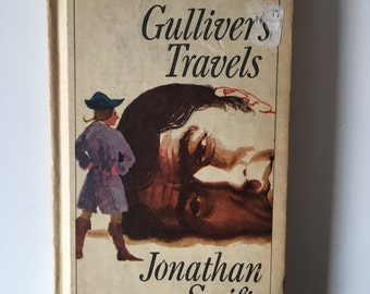Vintage 1960's Gulliver's Travels by Jonathan Swift, Hardcover.