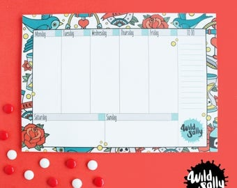 Sweet Tattoo weekly planner / weekly planner swallows and Sweet Tattoo tattoos