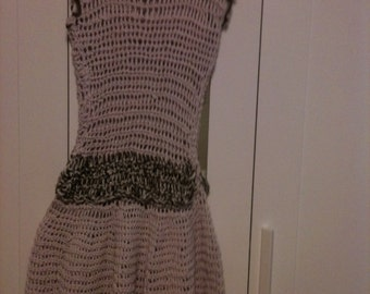 mini cotton crochet dress made and designed by Alex   small/med