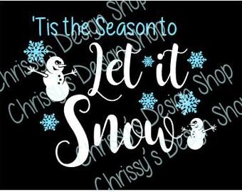 Snowman SVG / Winter svg / let it snow svg / christmas svg / snowman clip art / winter clip art / snowman dxf / winter dxf / vinyl crafts