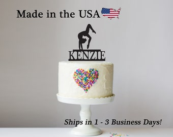 Gymnast Cake Topper, Female Gymnastic Decor, Cake Topper, Female Gymnastist, Cake Toppers, Acrylic, Birthday Party, Cake Decoration, LT1059