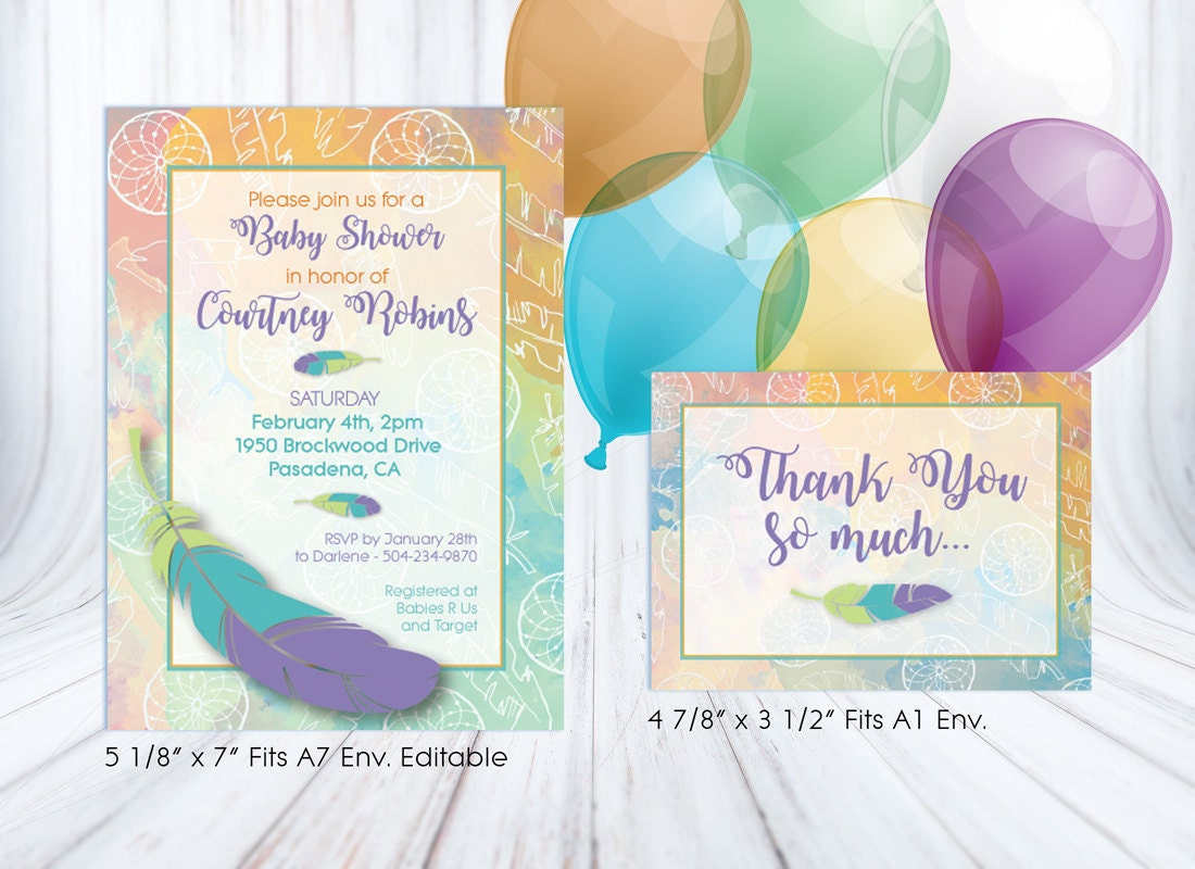 boho chic diy baby shower kit baby shower package party