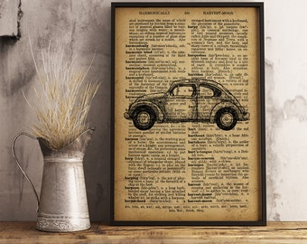 Retro Car Poster Vintage Car Decor, Garage Wall Art, Gift for him, Gift for mechanic, mechanic gifts, Retro Car Print wall decor (C03)