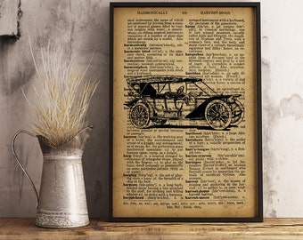 Old Style American Car, Old American Car Poster, Classic old roadster, Retro car poster, Gift Idea for him, Vintage Car Wall Art (C11)