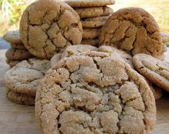 Peanut Butter Cookies, 1 1/2 Dozen, Homemade Cookies