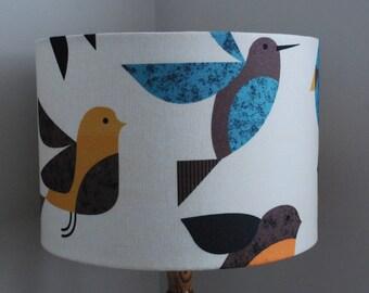 Handmade Lampshade Scandi Happy Birds