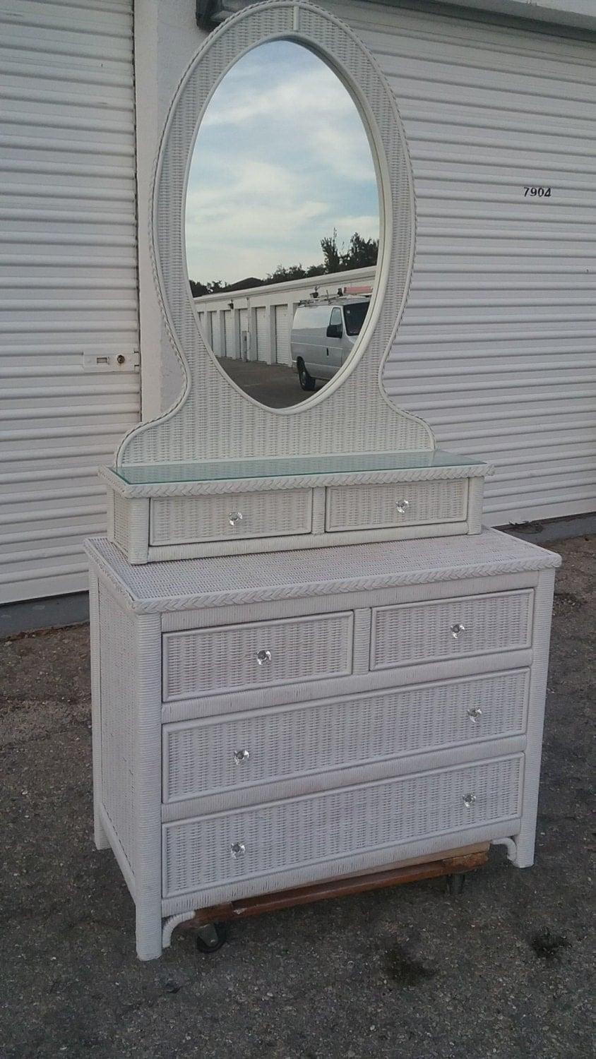 Lexington Wicker Henry Link Dresser And Mirror Set Shipping Not Included