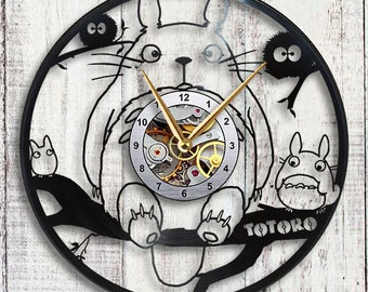 Totoro Vinyl LP Record Wall Clock Gift Idea