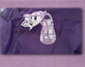 Baby sandals lace ( nub.20)-embroidery machine lace/ two sizes
