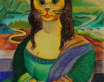 Da Vinci Cat I Card Pack of Four