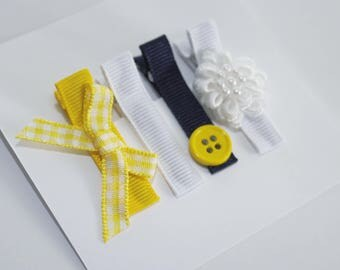 Mellow Yellow - Lined Alligator Clips