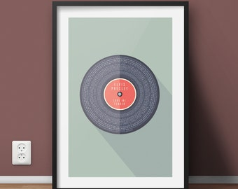 Personalised Vinyl Record Favourite Song Lyrics Print, Unique Gift, Father, Mother, Birthday, Anniversary, Friend, Special Gift, Music Gift