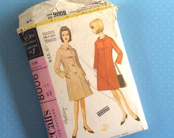 """Vintage Sewing Pattern - McCall's 8006 - Retro 1960's Dressmaking Pattern - Coat Sewing Pattern - Size 14 Bust 34"""" Sewing"""