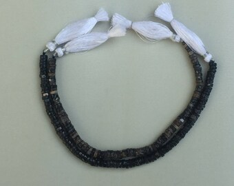 """3 strands of Collus Fossil rondelle beads 5-7mm each 8"""""""